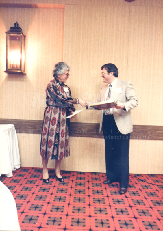 Presentation of McNaughton Portraits to McNaughton Learning Resource Centres 8 Oct 1985 002