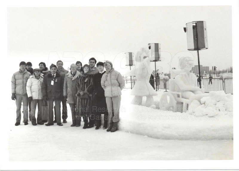 NRC's Winterlude Snow Sculpture- 1st Prize 1985 001