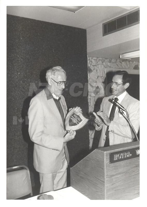 H. Fowler- Award from Canadian Air Cushion Techology Society 1984