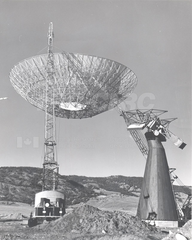 Dominion Observatory- 25.6 Meter Telescope Under Construction c. 1965 002