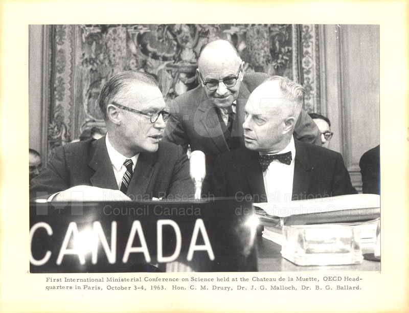 First International Ministerial Conference on Science, Paris 3-4 Oct. 1963