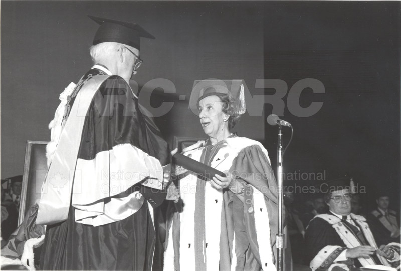 Dr. L. Kerwin- Honorary Doctorate University of Ottawa 1981 004