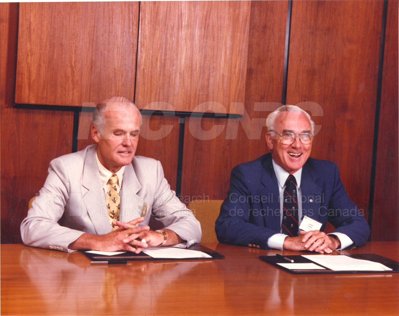 Signing of Understanding Between NRC & Standards Council of Canada (John Woods & Larkin Kerwin) 1988 003