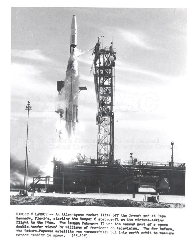 Satellites- Ranger 8 Launch