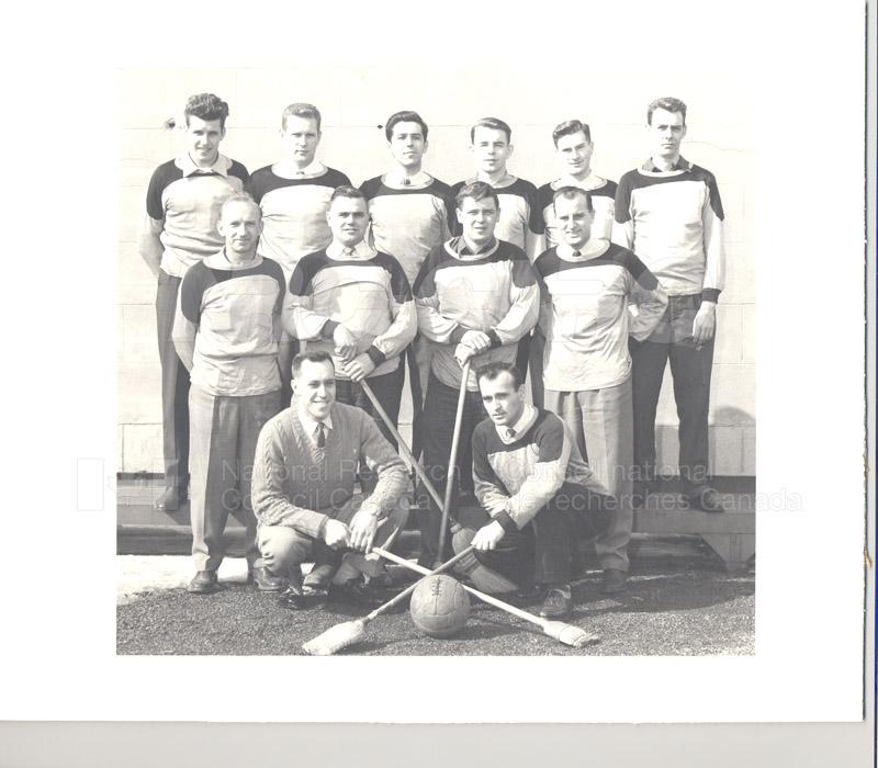 NRC Broomball Champs 1956
