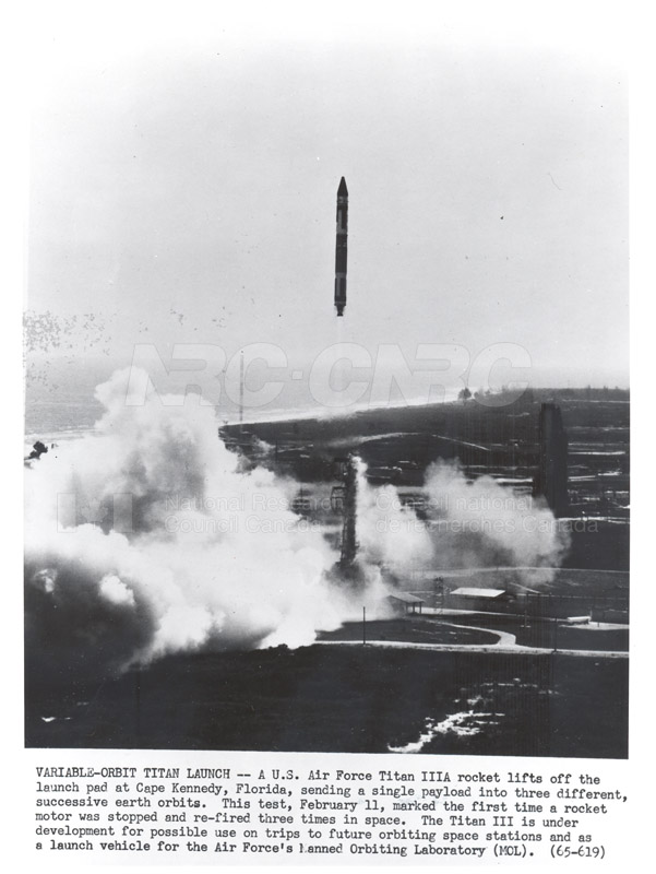 Satellites- Variable-Orbit Titan Launch- Air Force Titan IIIA Rocket