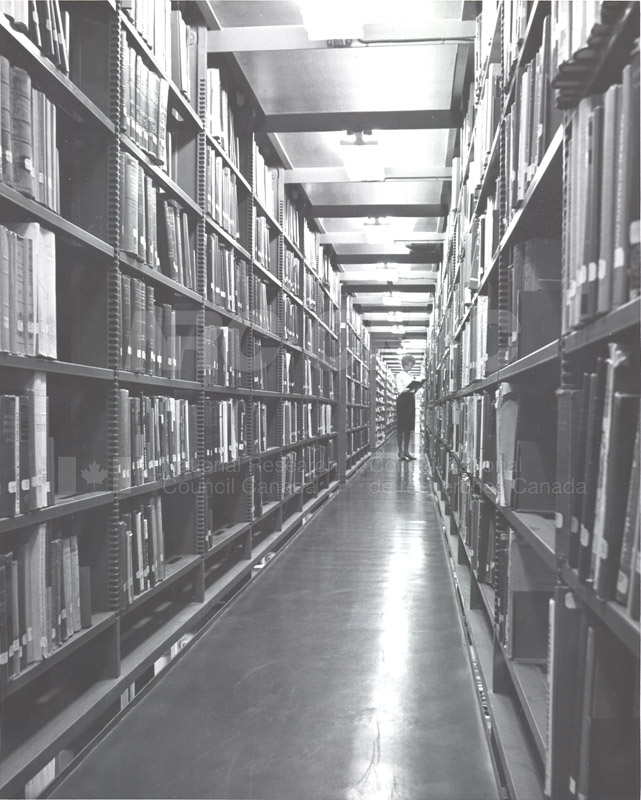 National Science Library- Sussex Drive Section in the Shelving of the Main Stacks c.1966 002