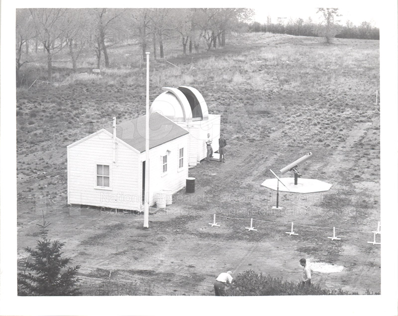 Clubbroom- Observatory- Last Clean-up as Seen from Regina College Top Floor Residence May 1955