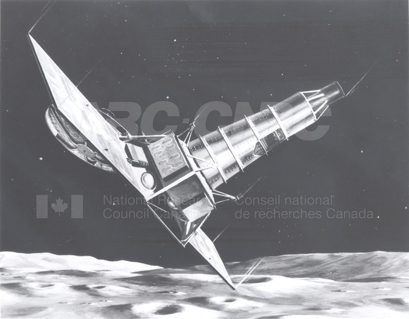 Artist's Conception of the Ranger Spacecraft Photographing the Moon