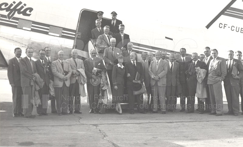 NRC Council Visit to North 1956 001