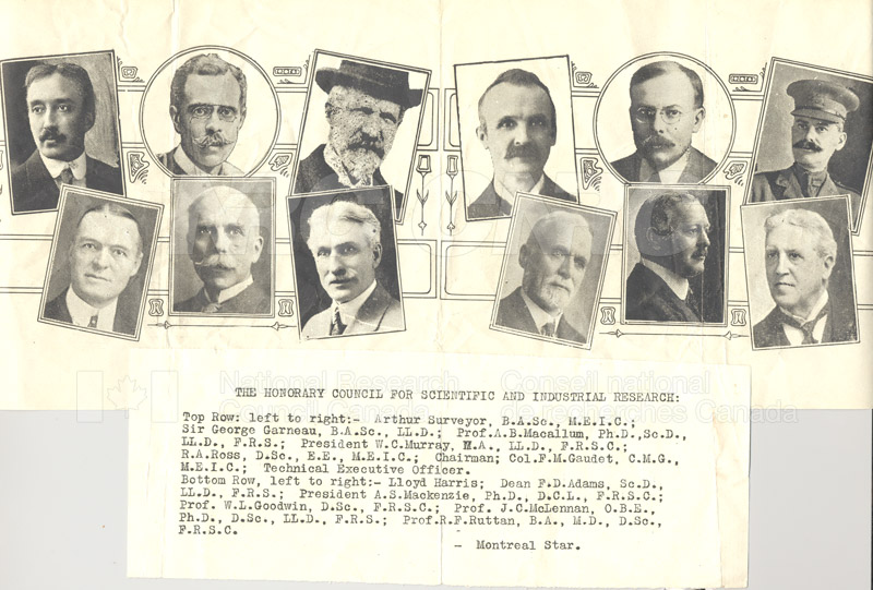 Members of Council 1916-1920