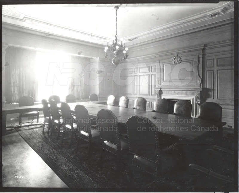 100 Sussex Drive Council Chamber July 1932
