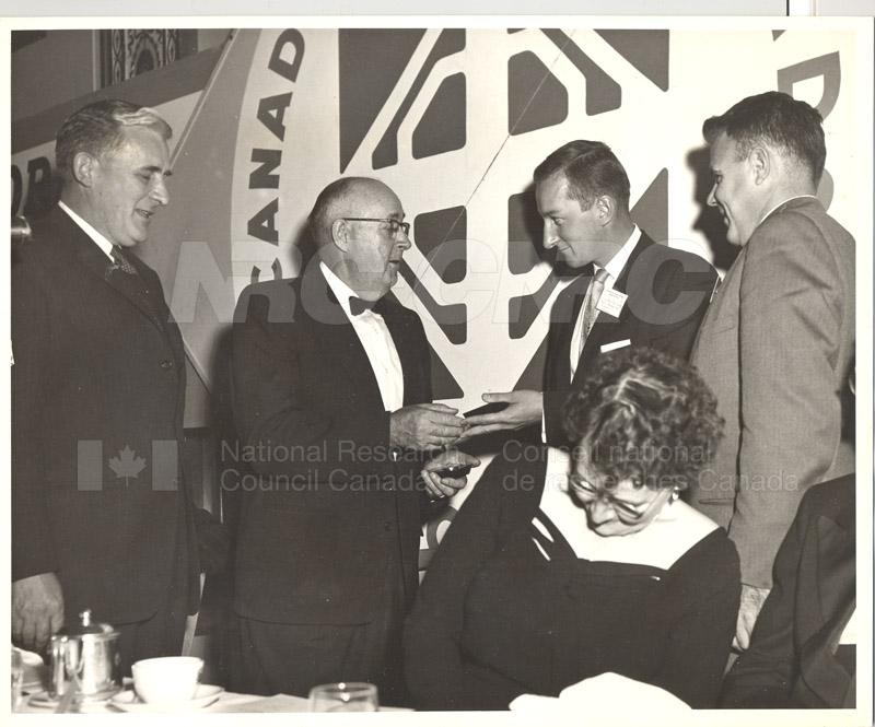 Canadian Roads Association- Award to NRC Scientist I.C. MacFarlane- President's Medal 1958-59