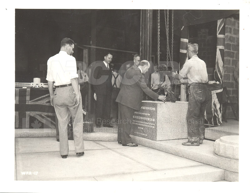 Aerodynamics Bldg -Annex- Laying the Cornerstone- July 25, 1940 007