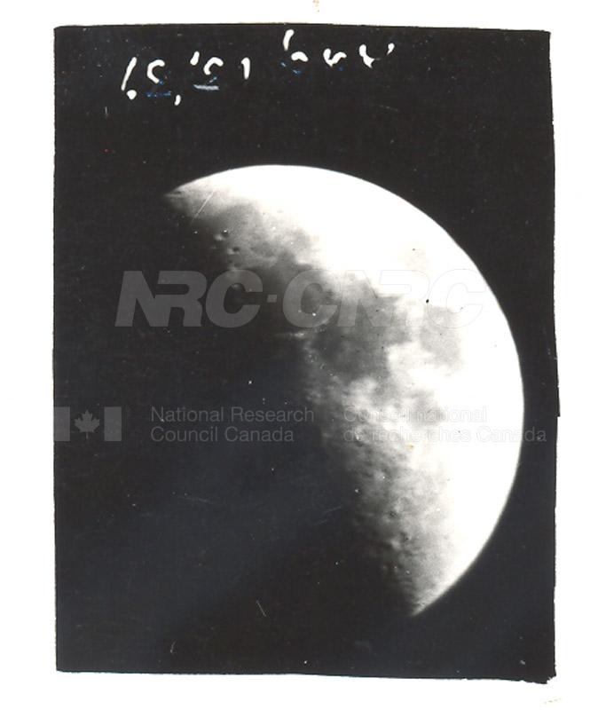 Moon- Photo by Killburn- 9 pm Aug. 13 1937