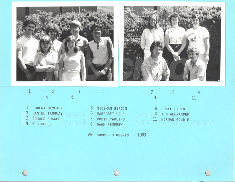 Summer Students 1983 002