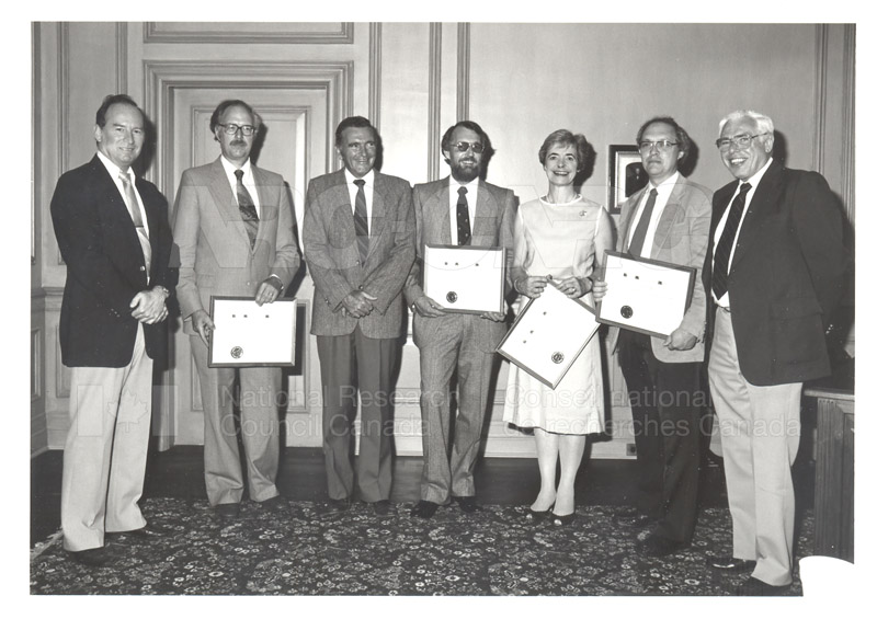 NASA Group Achievement Award- Presented to Members of the Herzberg Institute of Astrophysics 1984