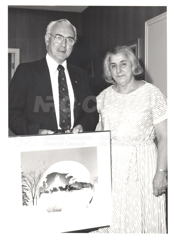 Presentation of 40 Year Service Award to Mrs. Helen Cuccaro 4 Sept. 1985 004