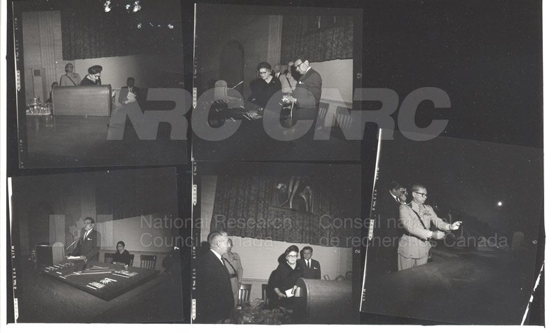 Presentation of McNaughton Mementoes, Mrs. McNaughton, Dr. Ballard 1967 002