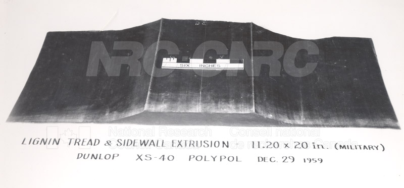Rubber Section- Lignin Tread-Sidewall Jan. 1960 001