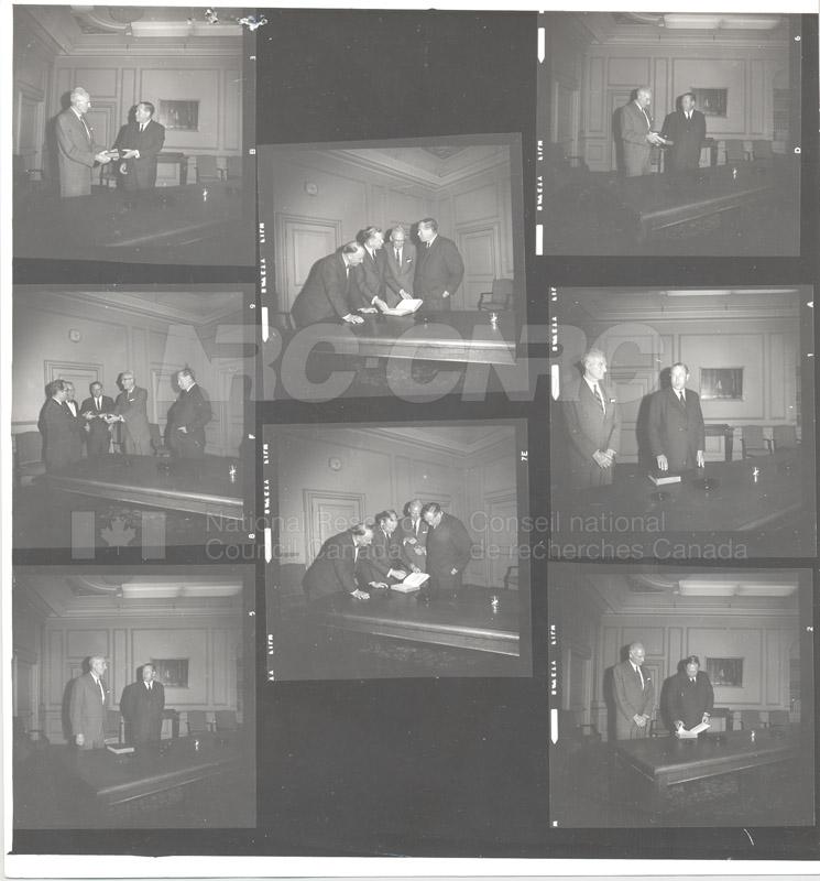 Presentation at Sussex Dr., includes Dr. Babbit, Dr. Tupper 1967