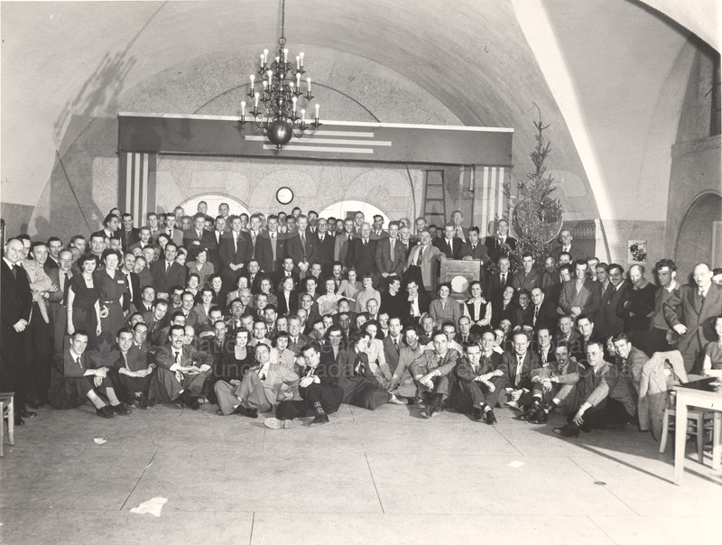 Christmas Party 1949 Sussex St. Bldg.
