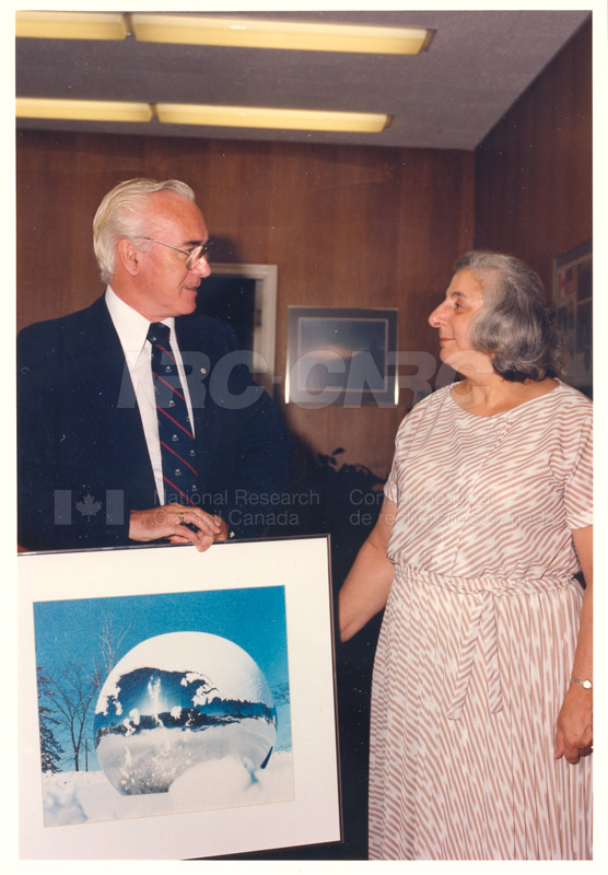 Presentation of 40 Year Service Award to Mrs. Helen Cuccaro 4 Sept. 1985 002