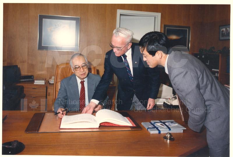 Visit of H.E.K. Kikuchi, Ambassador of Japan to NRC Feb. 27 '85 001