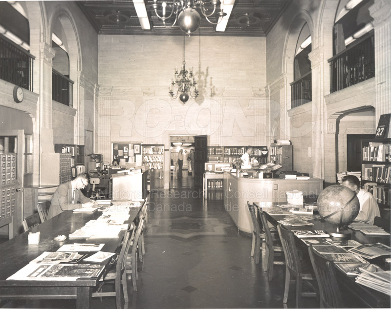 National Science Library- Sussex Drive Section in the Shelving of the Main Stacks c.1966 001