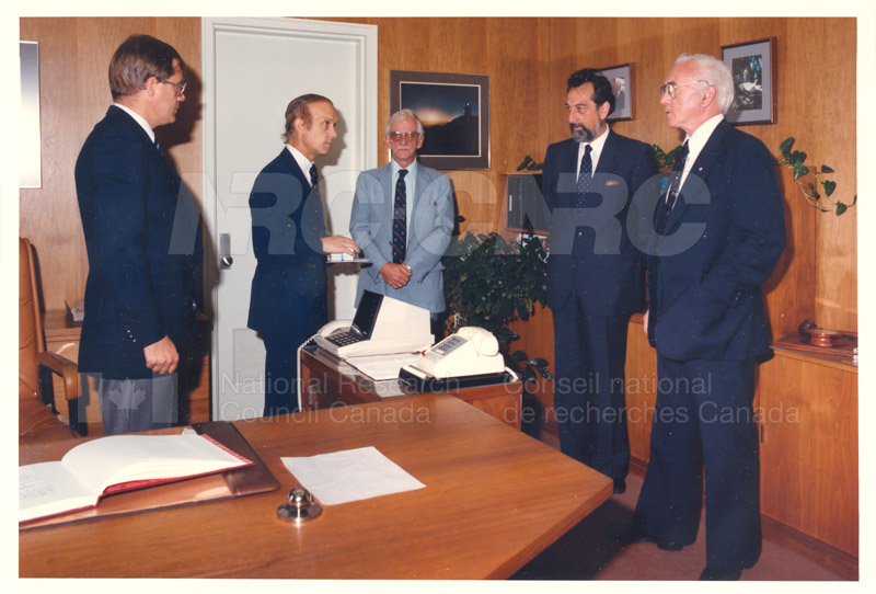 L. Rossi-Bernardi, President, National Research Council of Italy 4 Sept. 1985 001