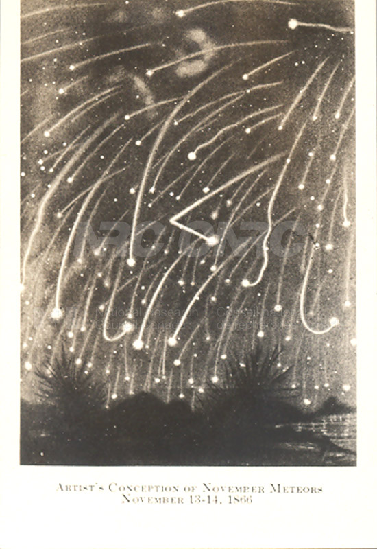 Artist's Conception of November Meteors Nov. 13-14 1866