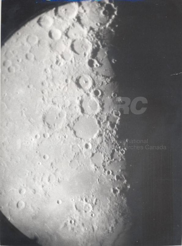 Moon- 8 Inch Refr. Half Inch Eyepiece April 18 1956