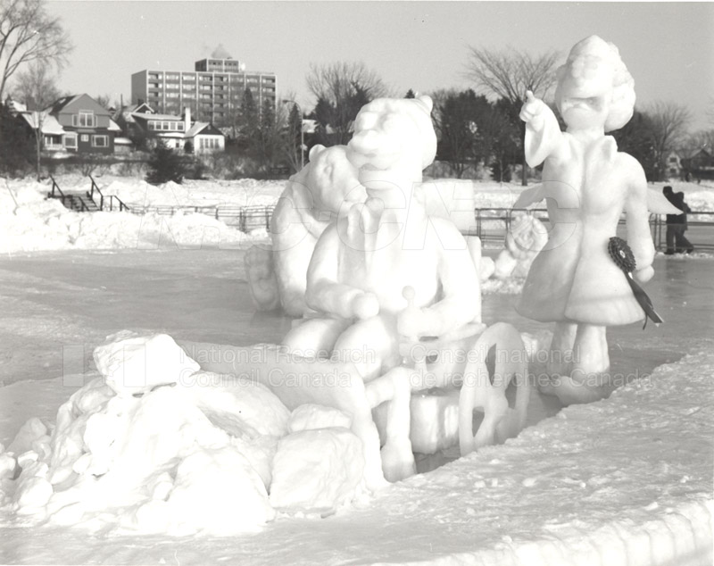 NRC's Winterlude Snow Sculpture- 1st Prize 1985 004