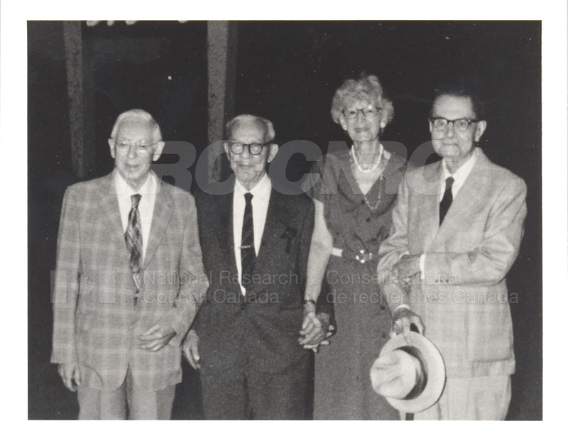 55 year friendship - C.Y. Hopkins, P. Larose, A. Tweedie & C.H. Bayley - 1985 002