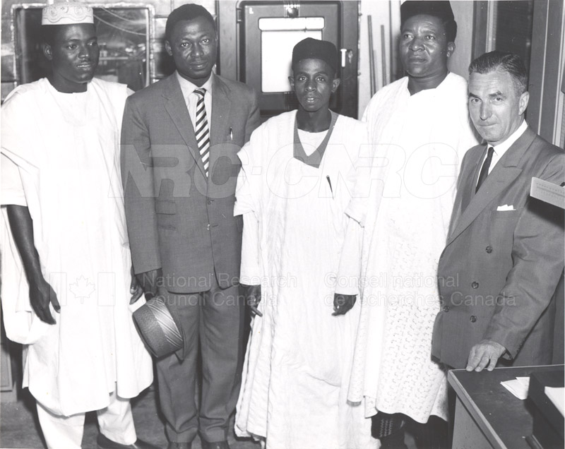 Visits of Nigeria (students of Engineering) 1958