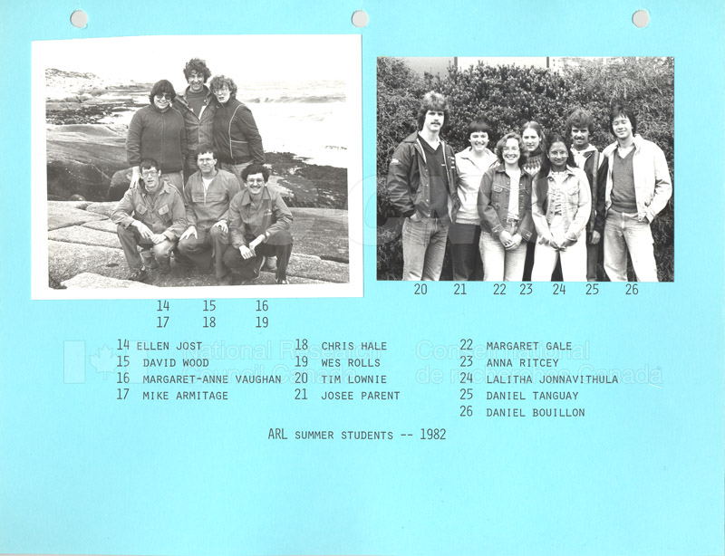 Summer Students 1982 003